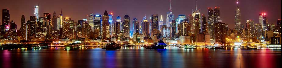 We light New York city from New Jersey